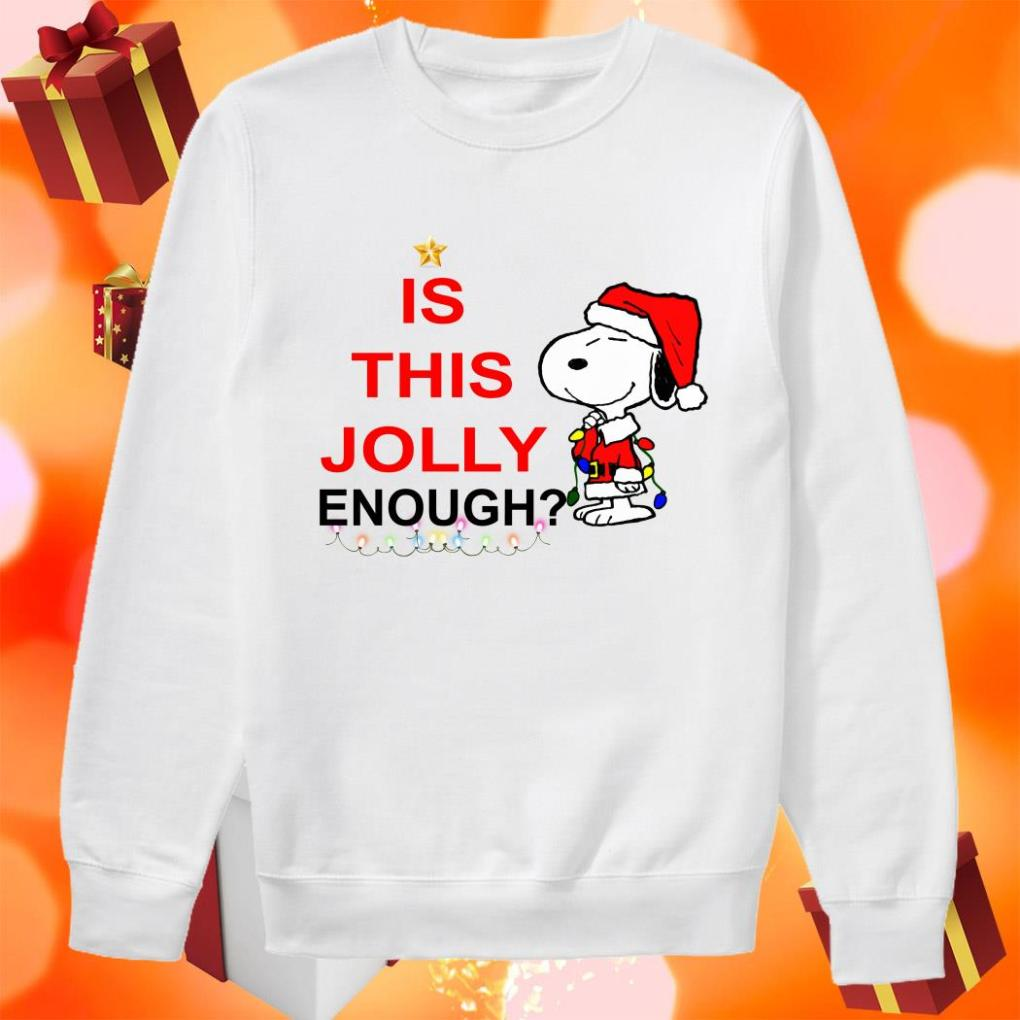 Snoopy Is this Jolly enough sweater