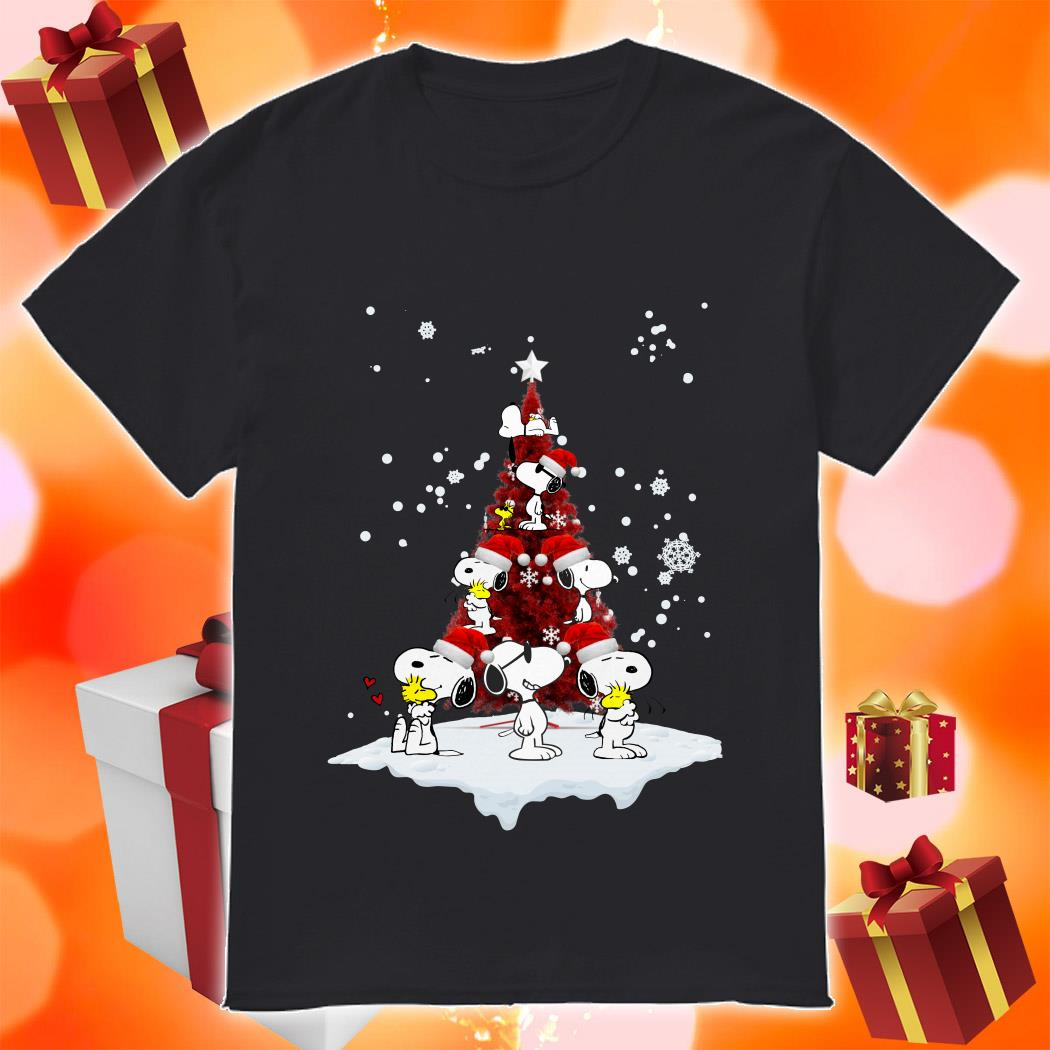 Snoopy Peanuts Christmas Tree shirt