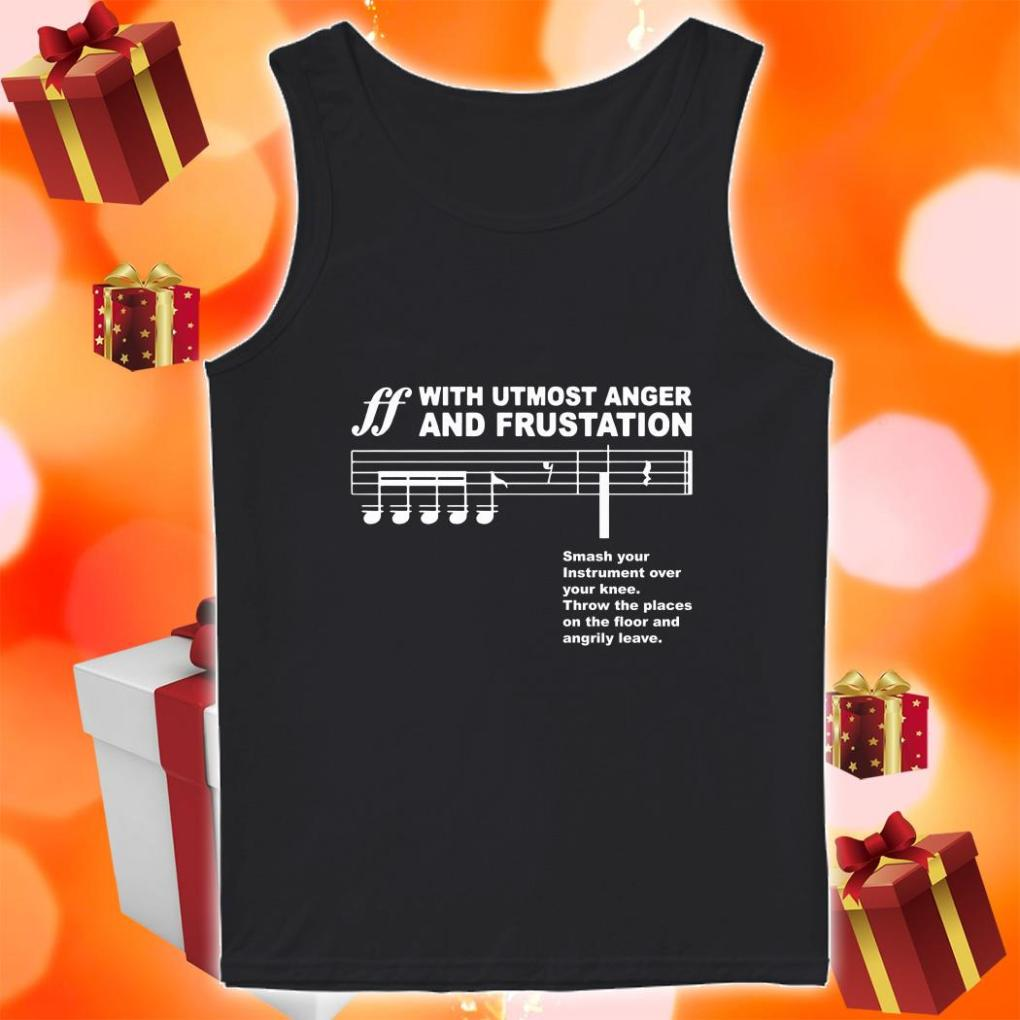 Spoken With Utmost Anger F and Frustration tank top