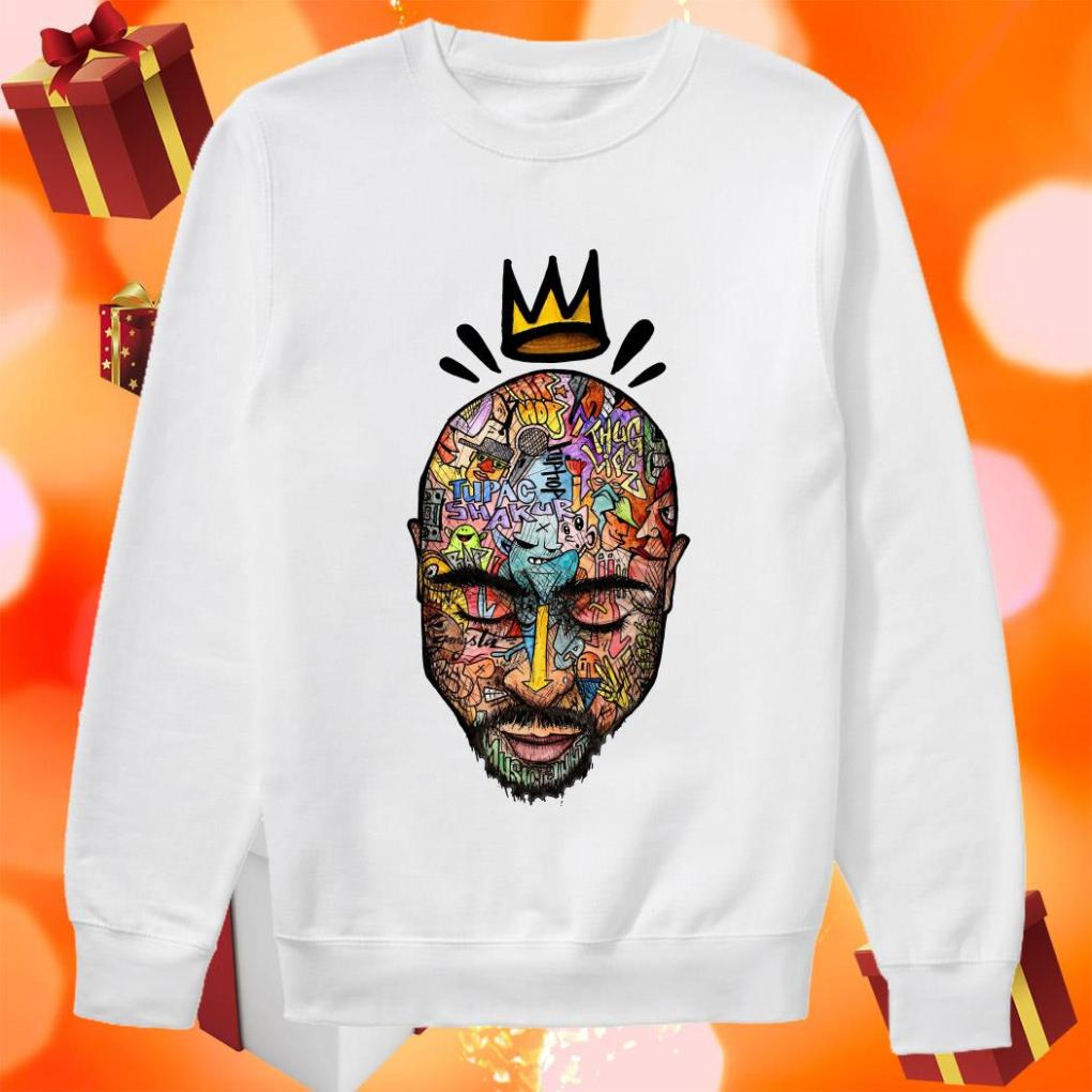 Tupac shakur Trippy art sweater