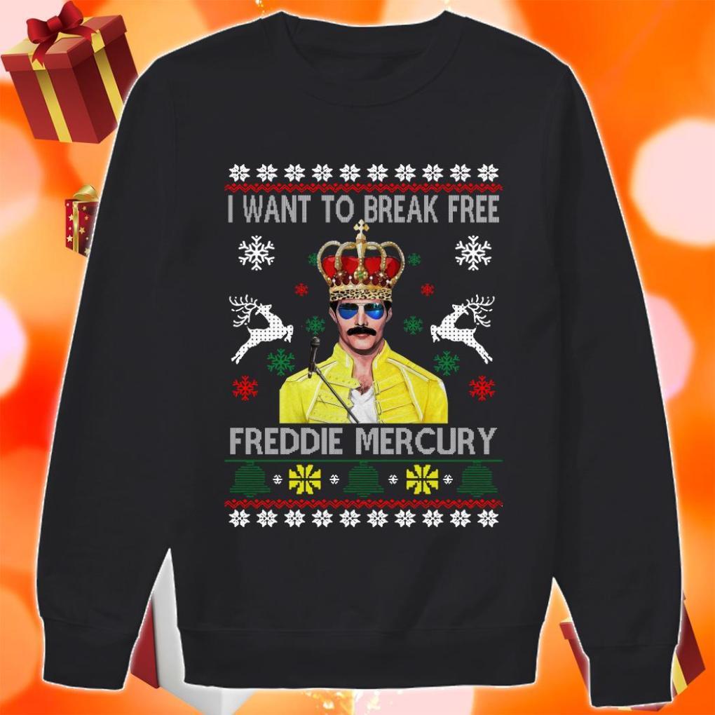 I want to break Free Freddie Mercury Christmas sweater
