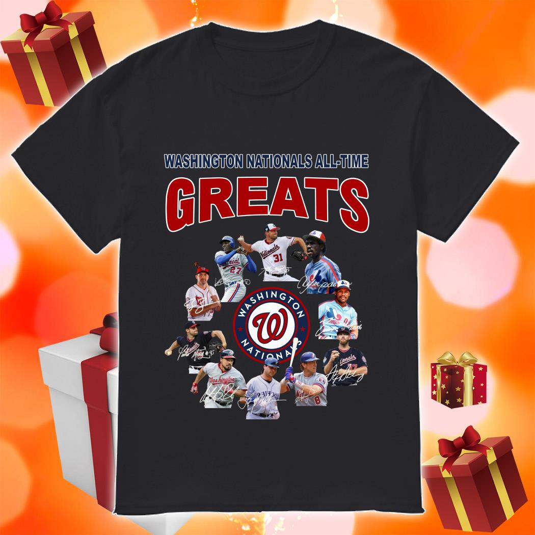 Washington Nationals All-time Greats signatures shirt