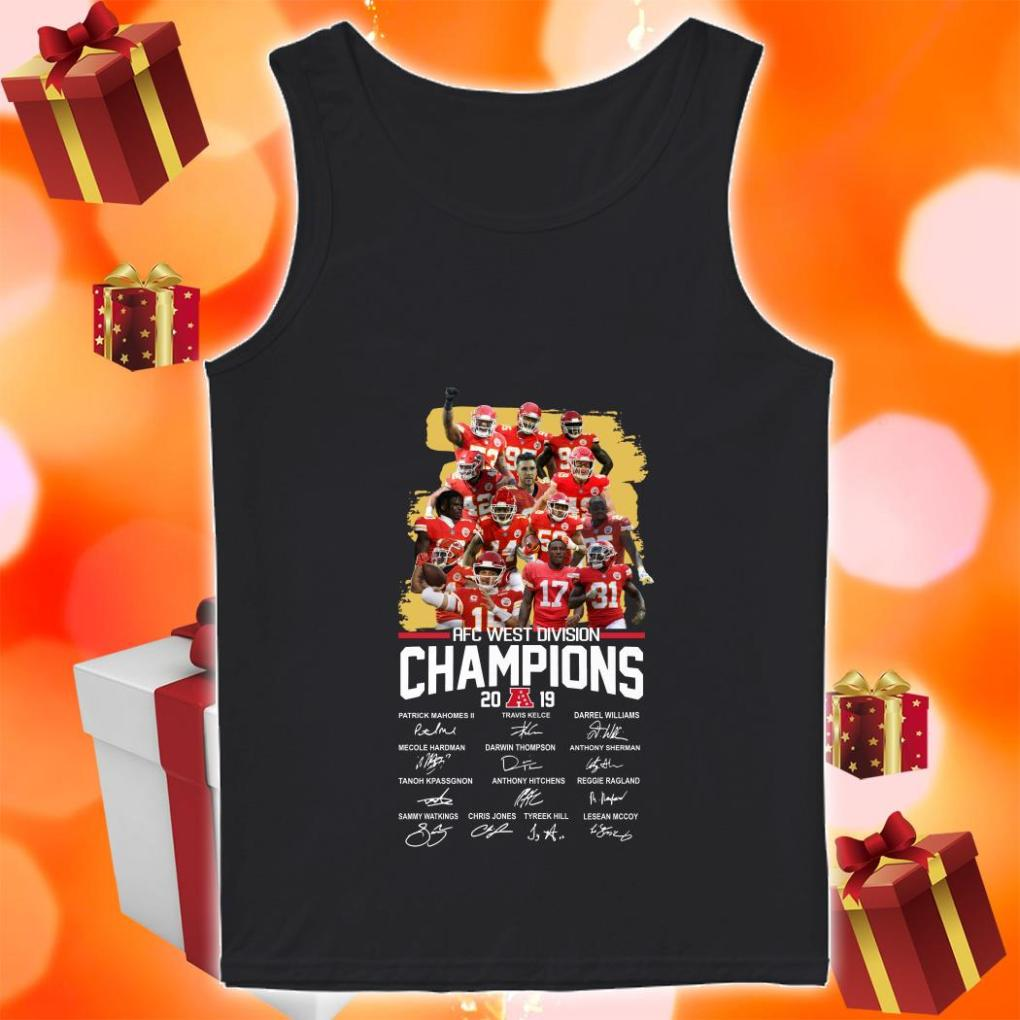 American Football Conference AFC West Division Champions 2019 Signatures tank top