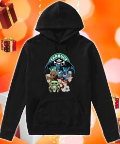 Baby Yoda Baby Groot and Toothless Stitch Gizmo hug Starbucks Coffee hoodie