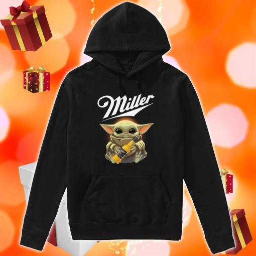 Baby Yoda hug Miller Genuine Draft hoodie