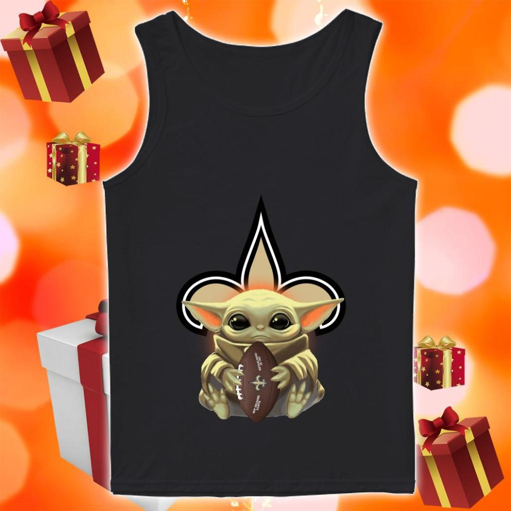 Baby Yoda Hug New Orleans Saints tank top