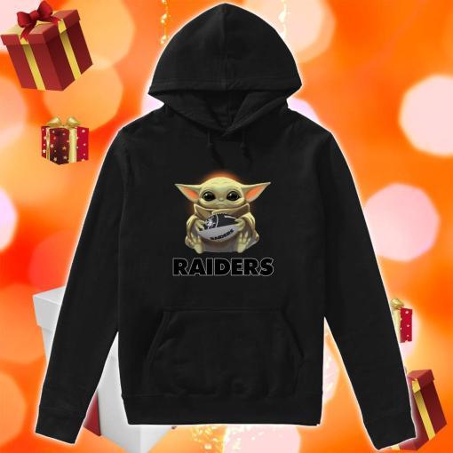 Baby Yoda hug Oakland Raider hoodie