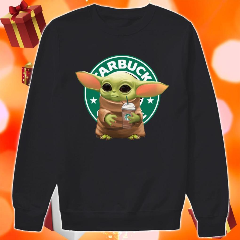Baby yoda hug Starbucks ice cream sweater