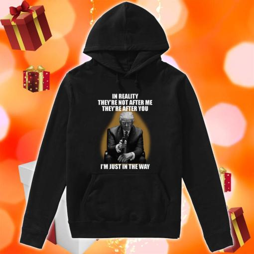 Donald Trump In reality they're not after me I'm just in the way hoodie