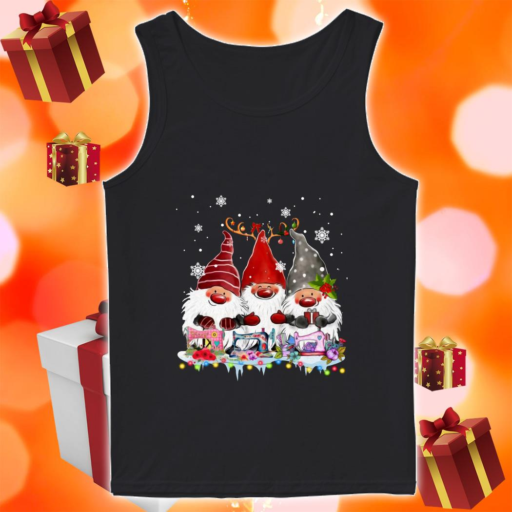Gnomies Sewing Quilting Christmas tank top