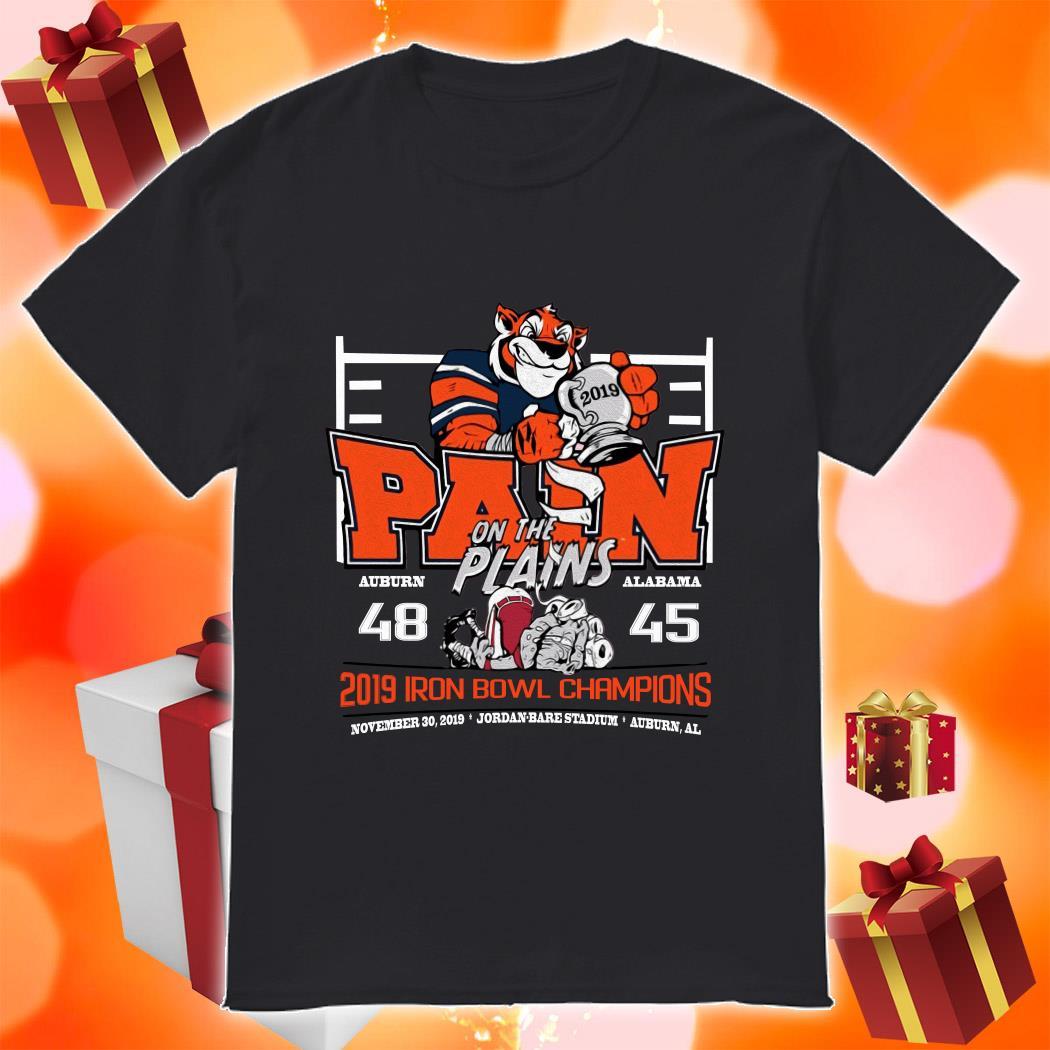 Iron Bowl Champions 2019 Auburn Tigers Pain on the plains shirt