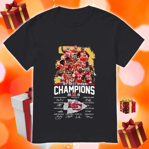 Kansas City Chiefs AFC West Division Champion 2019 signature shirt