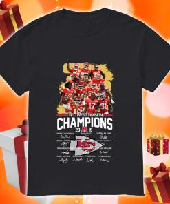 Kansas City Chiefs AFC West Division Champion 2019 signature shirt