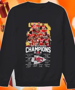Kansas City Chiefs AFC West Division Champion 2019 signature sweater