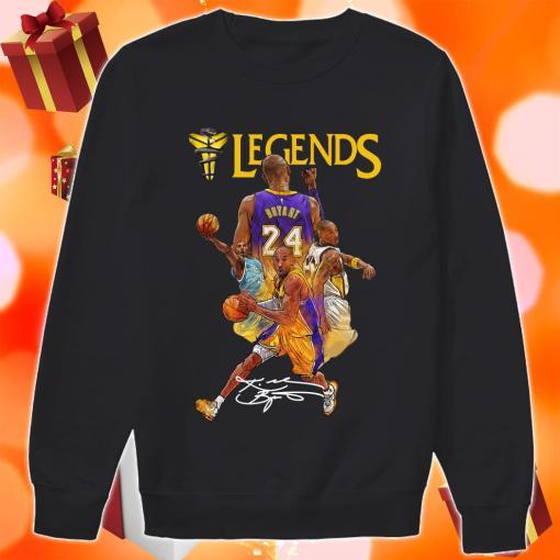 Kobe Bryant 24 Los Angeles Lakers Legends signature sweater