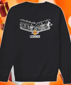 Los Angeles Laker Legends signatures sweater