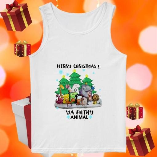 Merry Christmas Ya filthy animal tank top