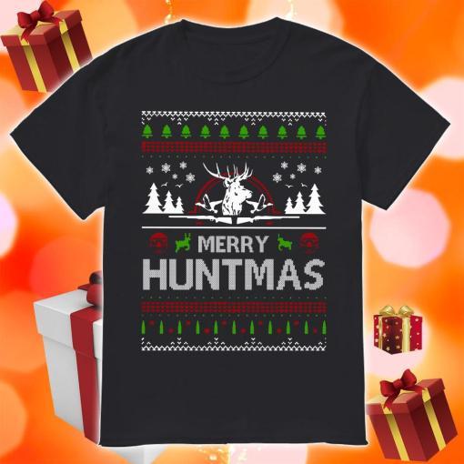 Merry Huntmas Ugly Christmas shirt