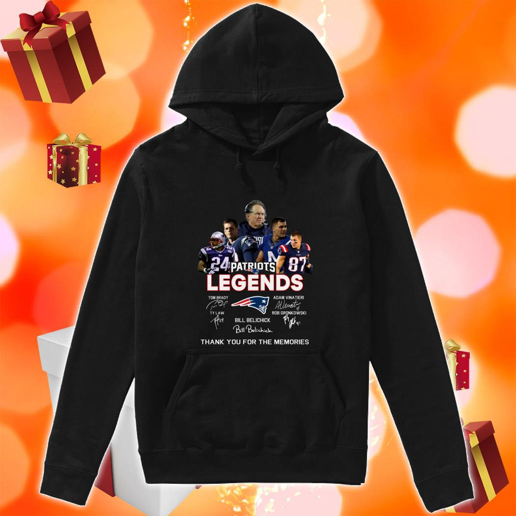 New England Patriots Legends Thank you for the memories hoodie