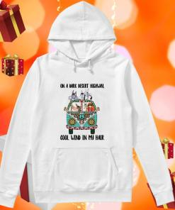 On a dark desert highway Hippie Girl donkey hoodie