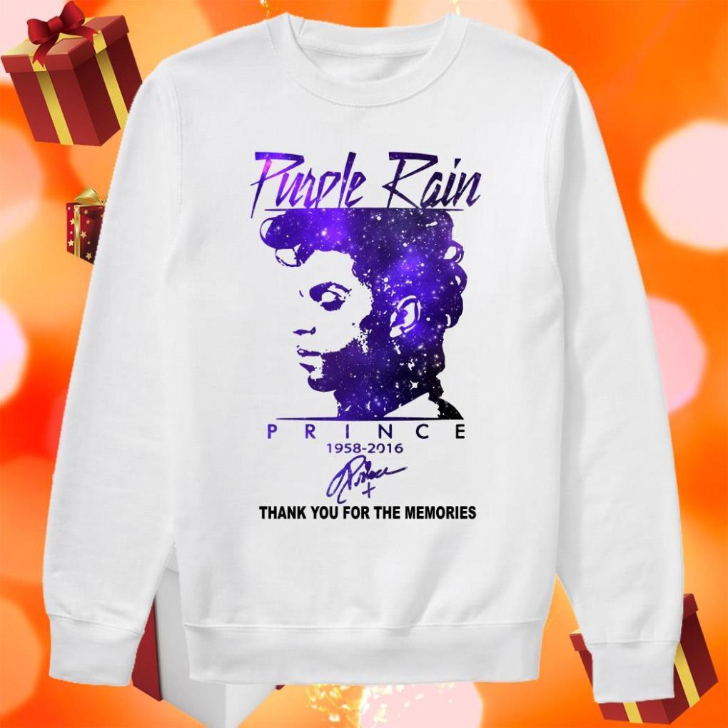 Purple rain Prince 1958 2016 thank you signature sweater