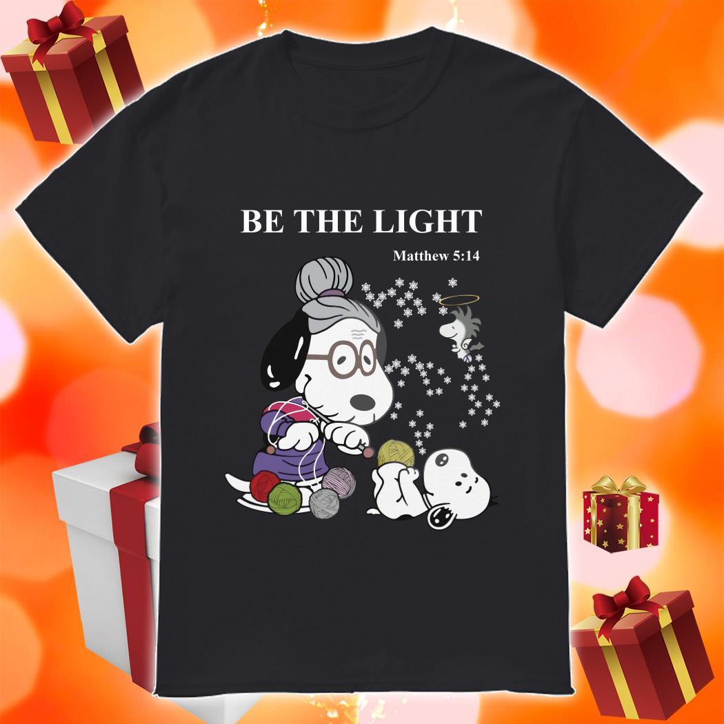 Snoopy love yarn be the light Matthew 5:14 shirt