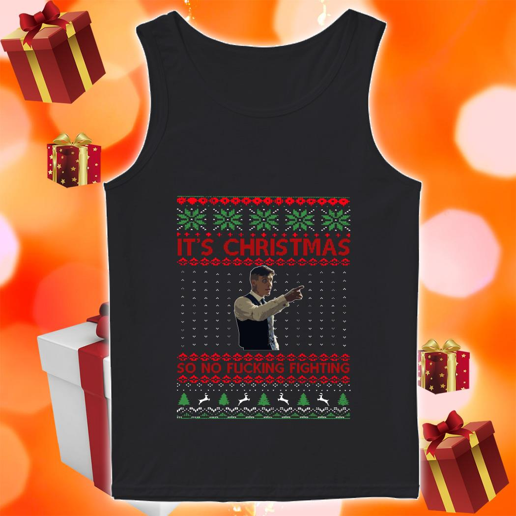 Thomas Shelby It's Christmas so no fucking fighting shirt 1 Picturestees Clothing - T Shirt Printing on Demand