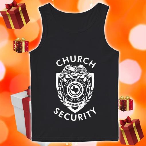 Church Security deacon headshots for Jesus tank top