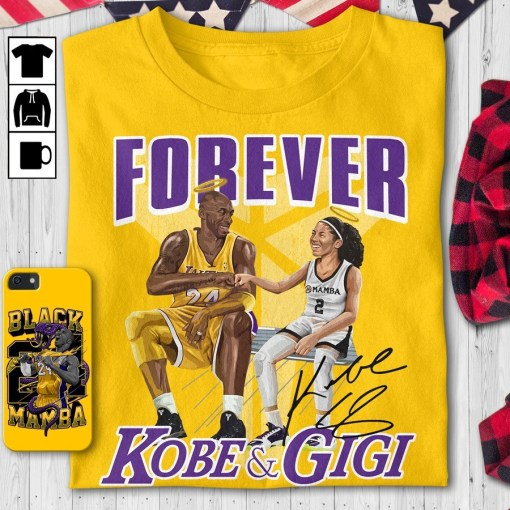 Forever Kobe and Gigi Love shirt 1 Picturestees Clothing - T Shirt Printing on Demand