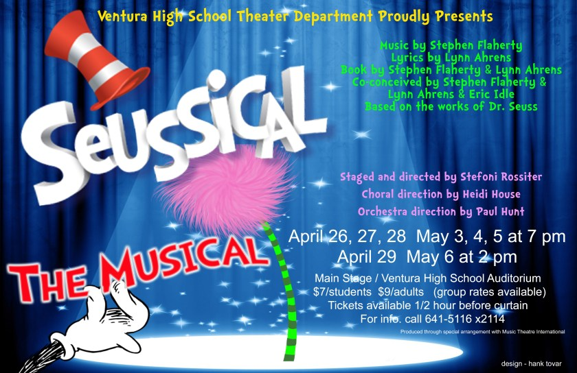 Suessical poster for Ventura High School