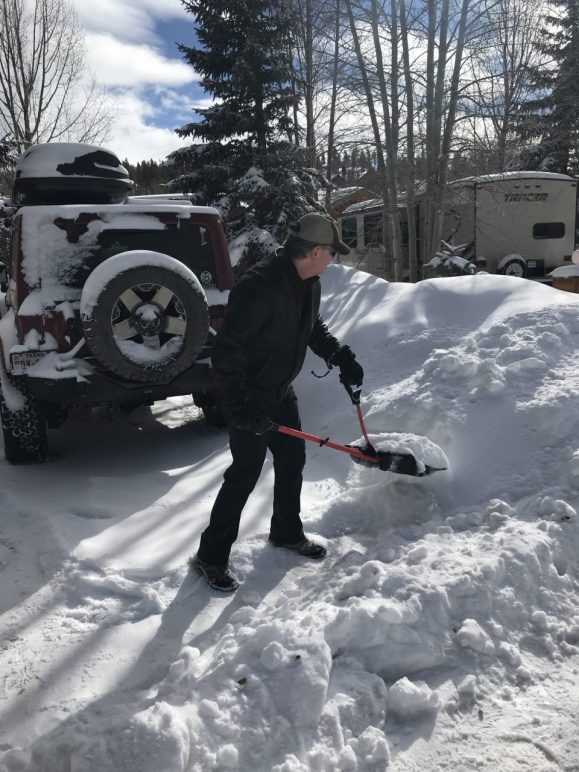 Shoveling snow is great exercise!