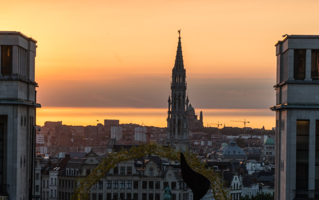 Sunset at Brussels, Belgium