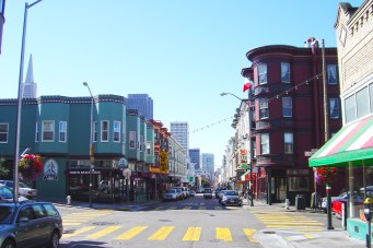 San Francisco's Italian District, North Beach. This is the intersection of Union & Grant Streets.
