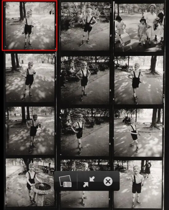 Street Photography-diane-arbus-kid-grenade-contact-sheet