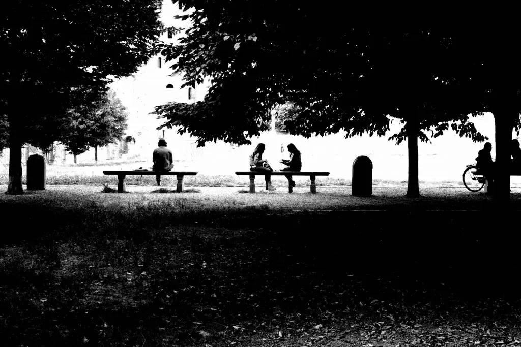 Torino Porte Palatine in bianco e nero alto contrasto