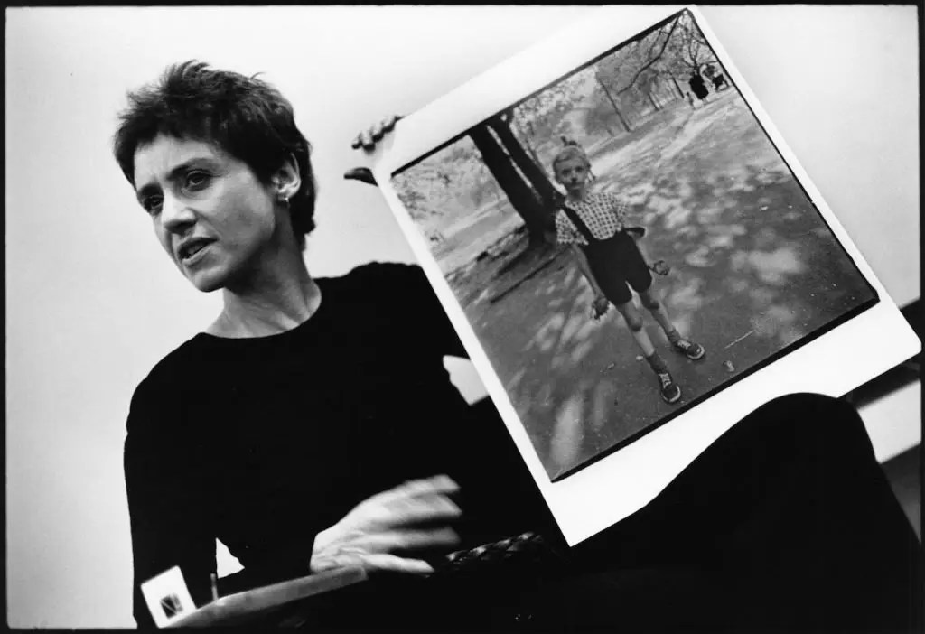 Diane Arbus in una foto di Stephen Frank