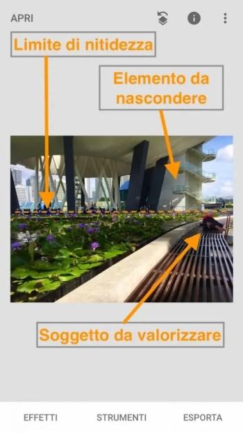 Effetto Bokeh Snapseed - analisi foto