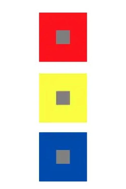 Colori complementari con grigio medio