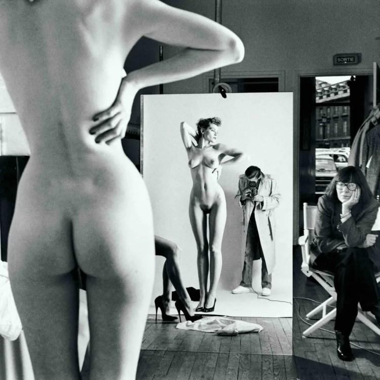 Helmut Newton - autoritratto con moglie e modella