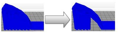XYZware - サポート材追加のしきい値変更