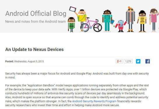 An Update to Nexus Devices - Android Official Blog