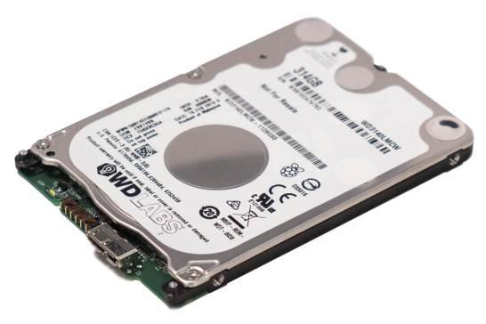 Raspberry Pi 向けの 314GB HDD - Western Digital