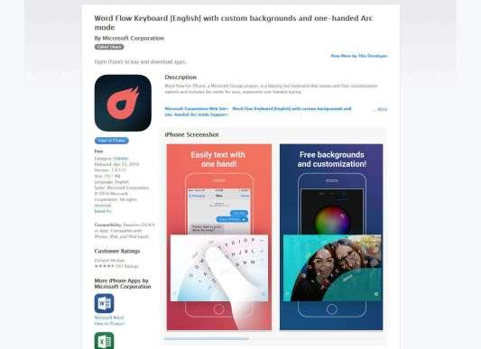 Word Flow Keyboard - Microsoft