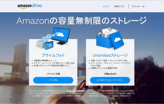 Amazon Unlimitedストレージ