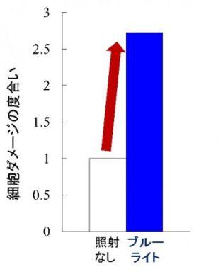 (図2)網膜細胞ダメージが上昇する