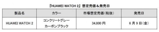 HUAWEI WATCH 2 ‐ 価格等