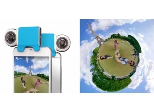 iPhone用360度カメラ「Giroptic iO」