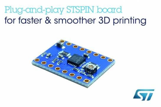 オープンソースの3Dプリンタの性能を向上させる高速・高精度モータ・ドライバ評価ボードを STマイクロエレクトロニクスが発表