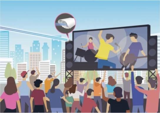 大容量映像データの通信が必要なイベント会場