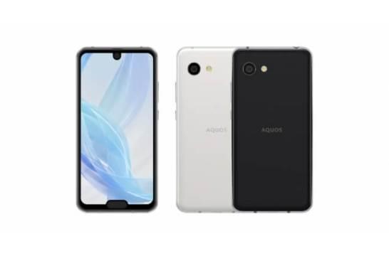 スマートフォン「AQUOS R2 compact」(左から、ディープホワイト、ピュアブラック) ●画面はハメコミ合成です。 ●開発中につき、発売時にデザインや仕様が変更になる可能性があります。
